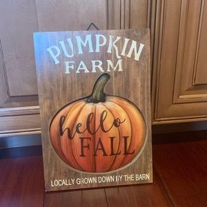 Fall decor sign